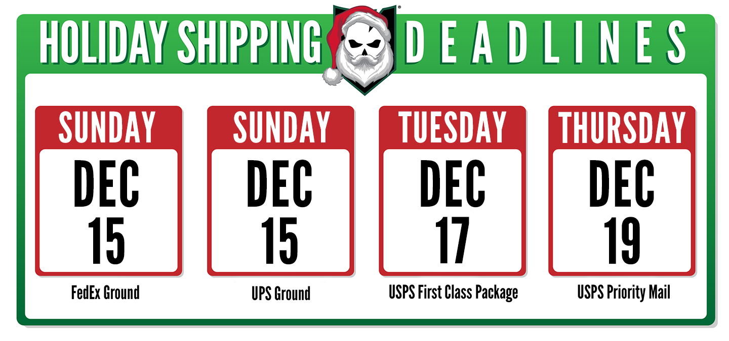 Holiday Shipping Deadlines 2019 Body