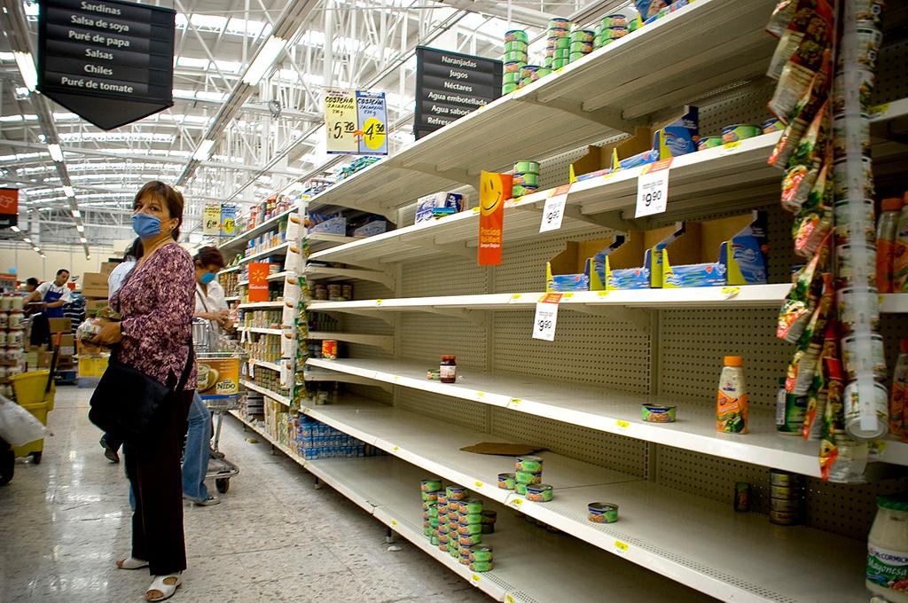 Panic Empty Store Shelves